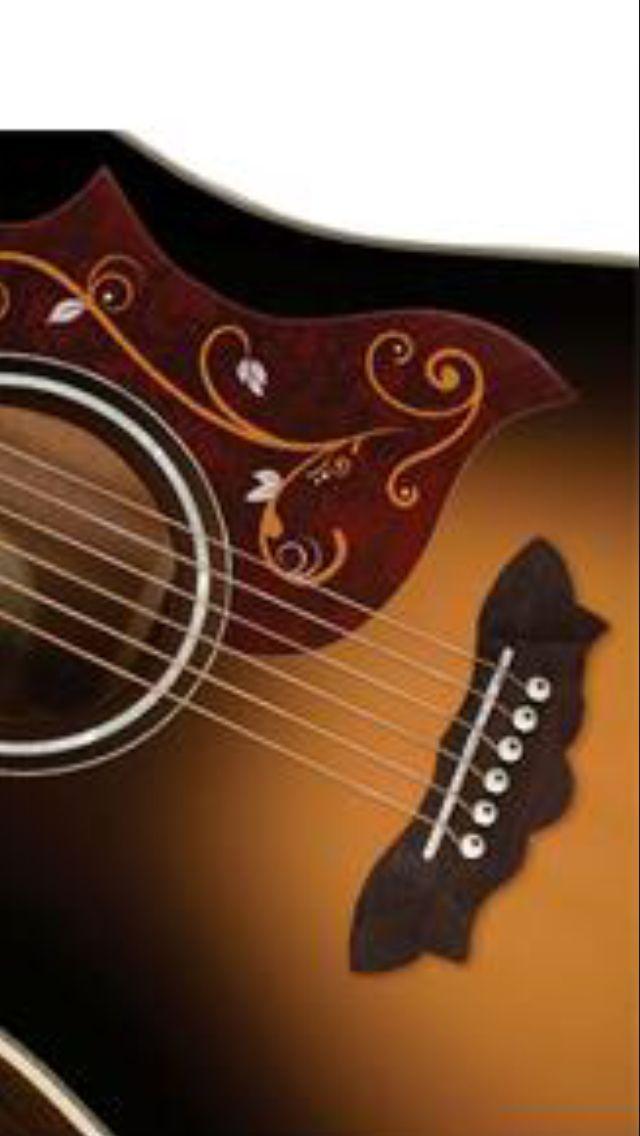 Washburn akoestische gitaar met mooie vlindervormige kam.