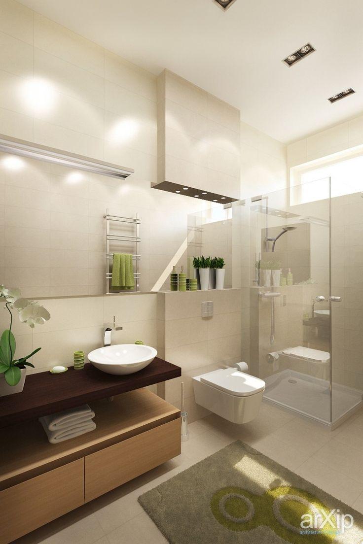 Фото Ванная комната в загородном доме - интерьер, квартира, дом, санузел, ванная, туалет, современный, модернизм, 0 - 10 м2