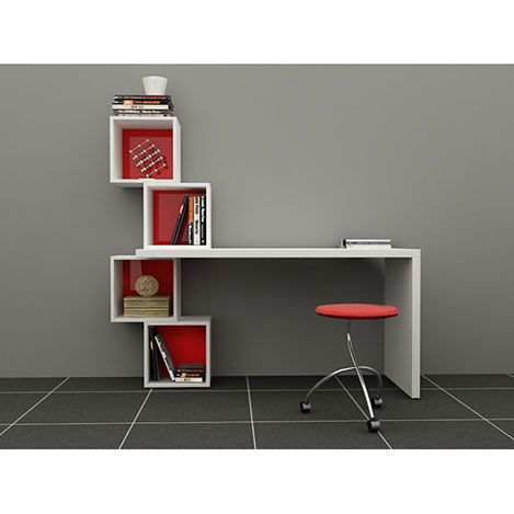 Decortie Balance Çalışma Masası - Kırmızı