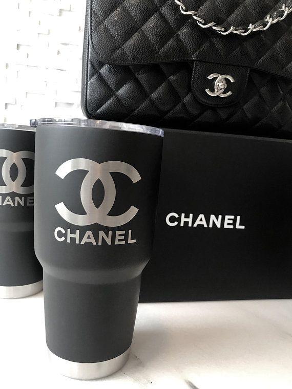 9e38d026d85 30 oz Chanel Logo Stainless Steel Tumbler- LASER ENGRAVED!! / Water ...