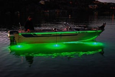 Add multiple lights around your boat for additional brightness and more fish at night! Submersible fishing lights. SuperNova Fishing Lights. www.supernovafishinglights.com