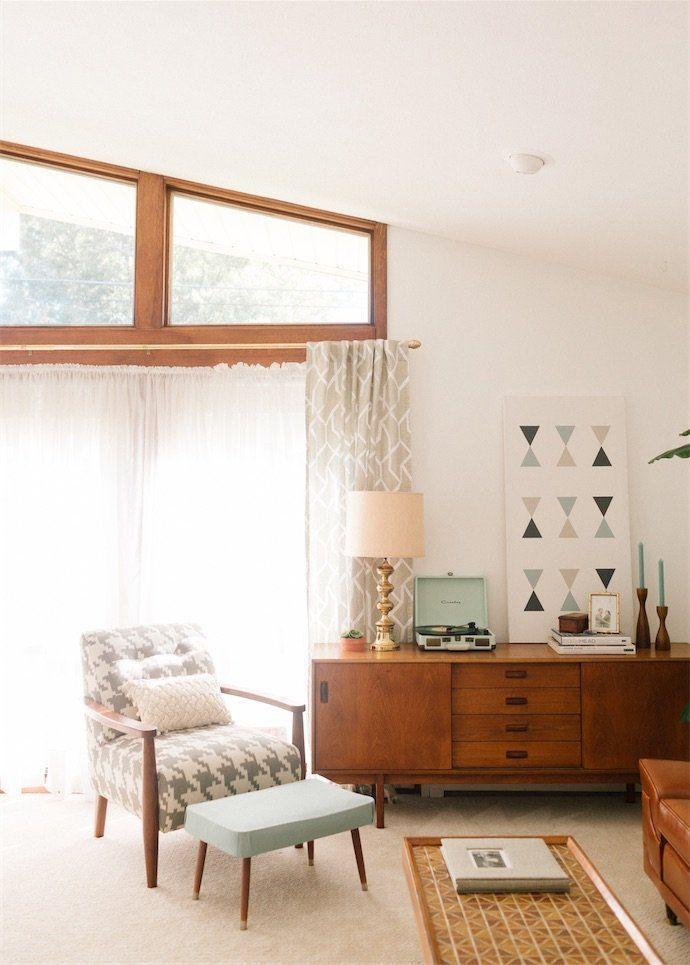10 Homebody Date Night Ideas Modern Retro Living Room, Mid