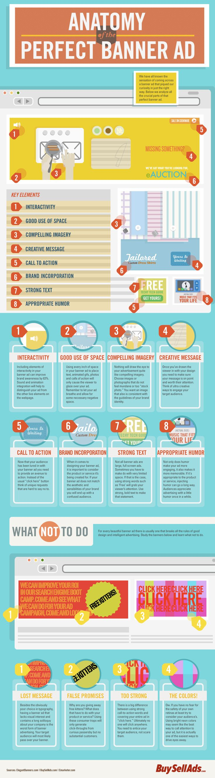 How to create great #banner ad? If this infographic is not enought for you, you should check #Google #Adwords hints...