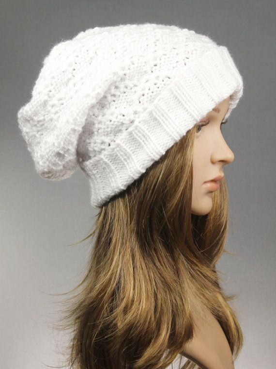 Slouchy Hat Slouch Beanie Slouchy Knit Hat Knit by GoKnitsDotCom