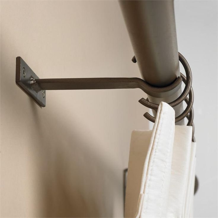 Forged Iron Low Profile Center Support Bracket (Estate Collection) | Bestwindowtreatments.com