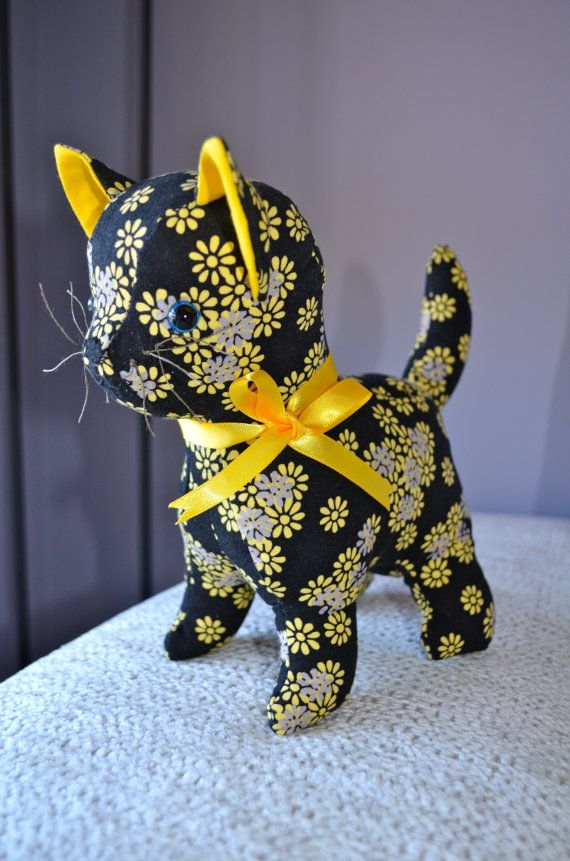 Daisy the cat, Black soft toy cat
