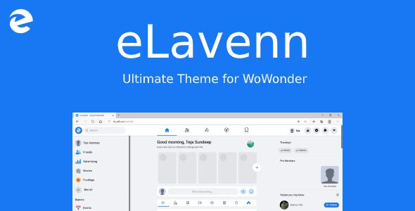 Elavenn The Ultimate Wowonder Theme In 2021 Themes Free Free Download Ultimate
