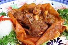 Recetas de cocina: Mixiotes de carnero con nopales