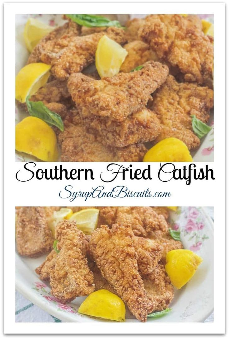 Southern Fried Catfish. Marinated in buttermilk, breaded in seasoned cornmeal and fried until golden brown and crispy.