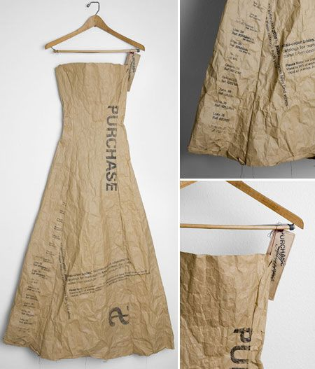 Brown Paper Dress