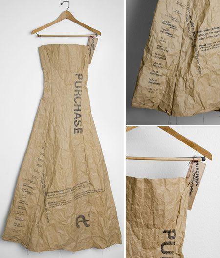 38. avec des sacs de papier brunBrown bag dress via serenajs
