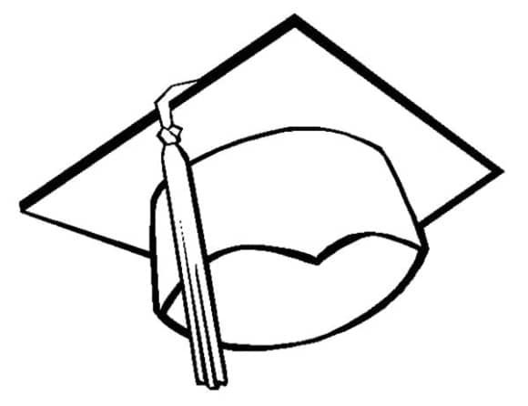 Graduation Cap Coloring Page Graduation Cap Drawing Graduation