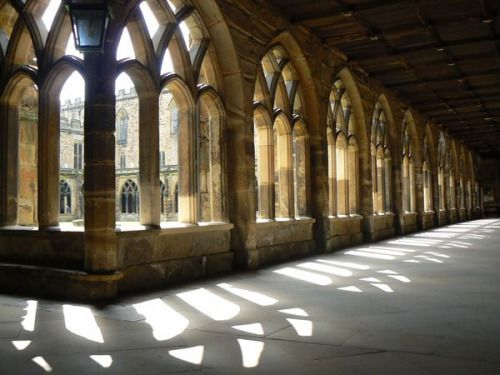 arw126kc135: :Durham Cathedral Light shining through the cloisters at Durham Cathedral in England