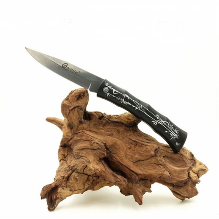 미니 접이식 칼 과일 칼 블레이드 야외 캠핑 하이킹 생존 도구 ABS 대나무 손잡이 칼 선물