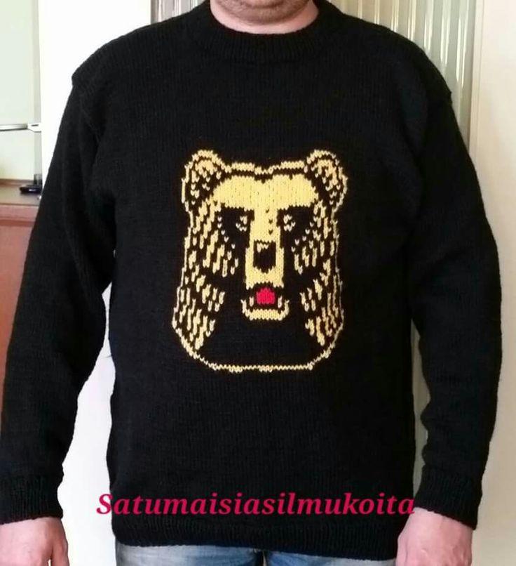 Karhu villapaita #neule #käsityöt #Novita #7veljestä #knitting