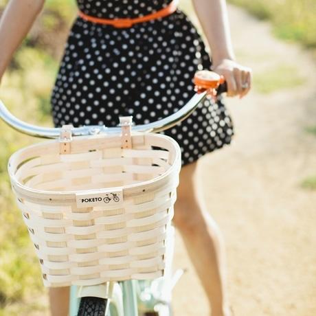 Woven Wood Bike Basket