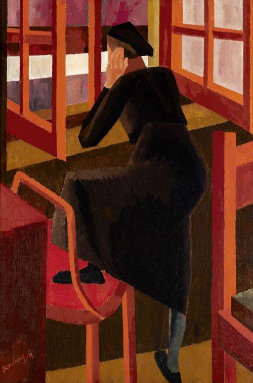 At the Window, 1919, David Bomberg. English (1890 - 1957)