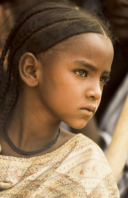 Beautiful inquisitive girl. Gao, Mali