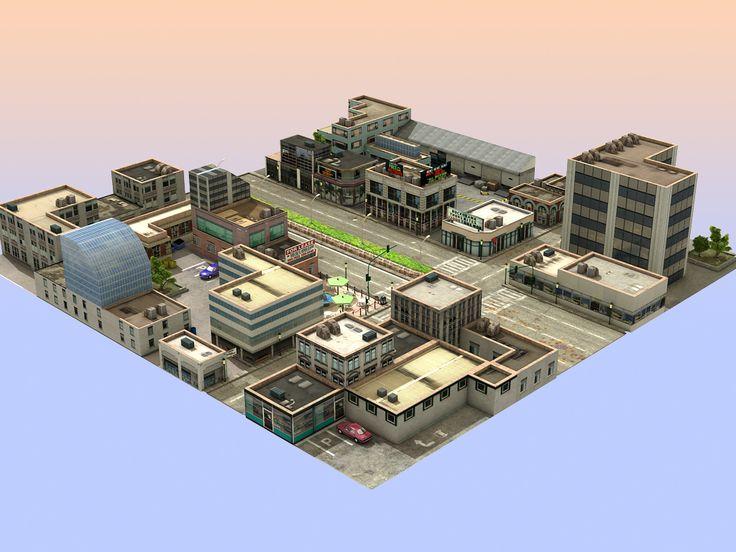 Les 70 meilleures images du tableau city environment sur for Jeu d architecture 3d