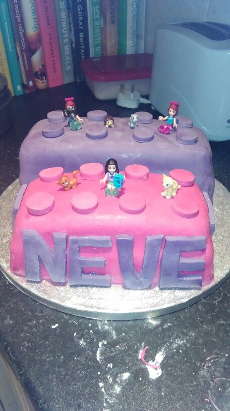 Neve's Lego Friends Cake                                                                                                                                                                                 More