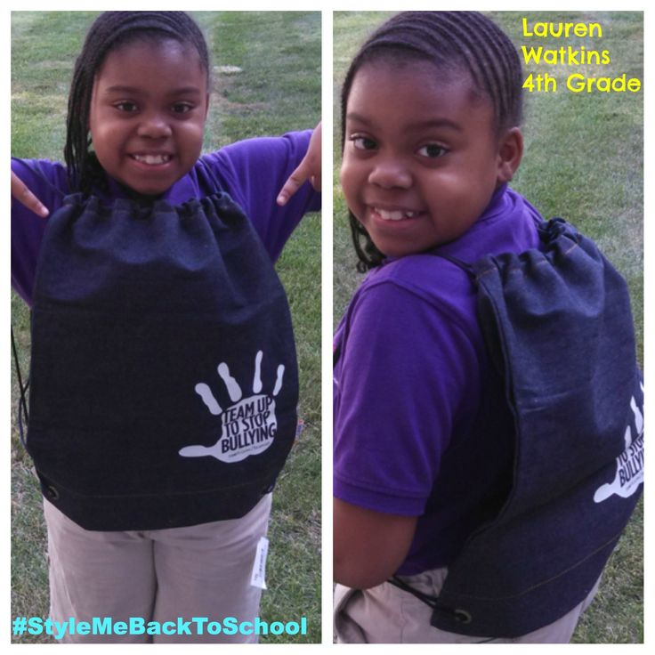 """Featuring Lauren Watkins, rocking the Team Up to Stop Bullying sport bag in one of the hottest trends in kids fall fashion, denim. Sears launched Team Up to Stop Bullying in August 2012.   $1 of each purchase of the limited-edition  denim sport bag goes to anti-bullying non-profit organizations. """"Sears is giving Shop Your Way members and customers ways to express their individuality through their personal style – something all kids can celebrate and respect in each other.""""…"""
