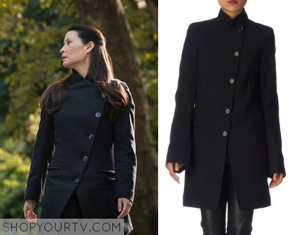 Elementary: Season 3 Episode 9 Joan's Black Asymmetrical Coat