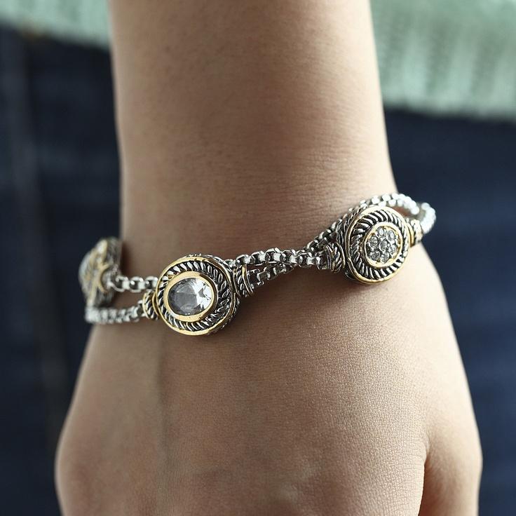 Gorgeous David Yurman inspired bracelet for only $29.99 at www.premiumcz.com #DavidYurman #designerinspired #CZbracelet #cubiczirconia #bracelet