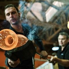 The Tour de France winning trophies are blown at the Lasvit glass factory