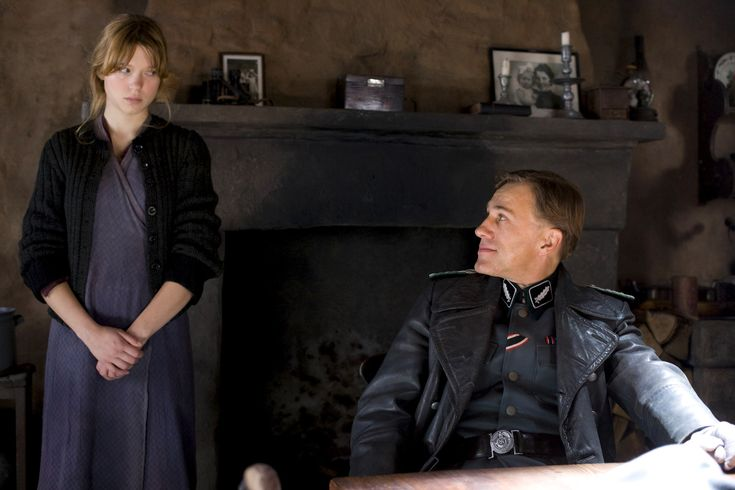 Inglourious Basterds - Léa Seydoux - Christoph Waltz