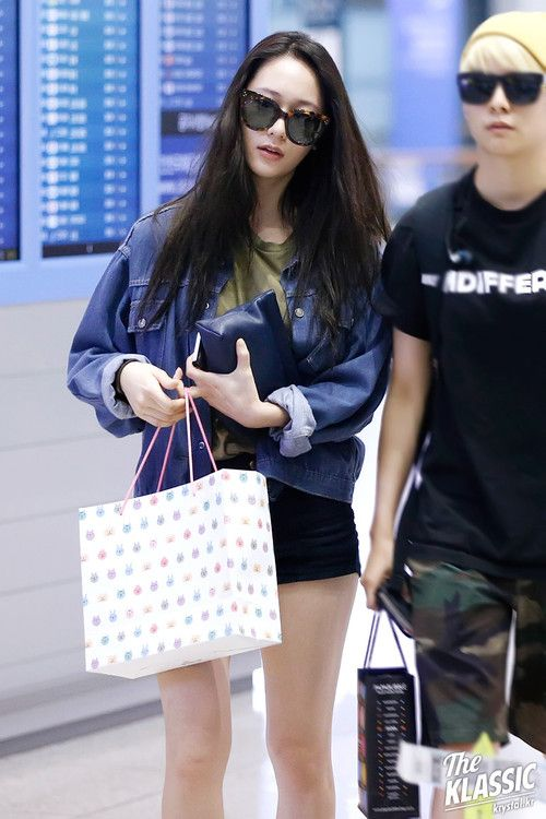 f(x) Krystal | Korean Stars / Airport Fashion / Casual Style ...