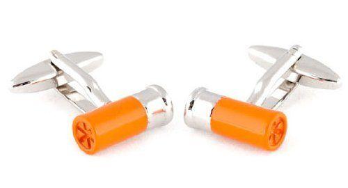 Shotgun Shell Cufflinks Orange Cuff-Daddy. $33.99. Save 51% Off!
