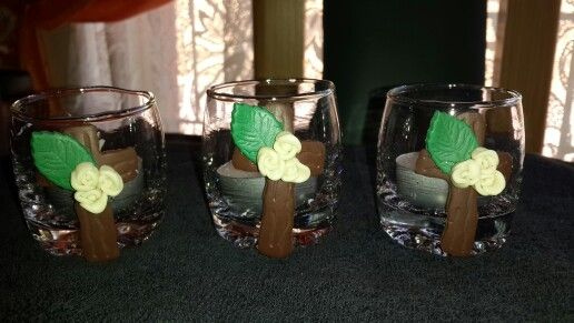 Polymer clay candle holders