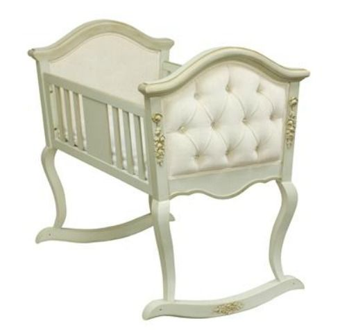 Upholstered #cradle fit for a queen in training. #pinparty