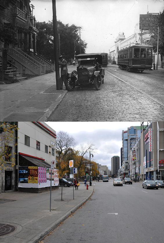 https://flic.kr/p/oWbiHJ   Vers 1920-2009   Une vue de la rue Sainte-Catherine Ouest près du square Cabot. Source : Musée McCord © Tous droits réservés : Guillaume St-Jean Maintenant via Facebook : Montréal Avant-Après. www.facebook.com/pages/Montr%C3%A9al-Avant-Apr%C3%A8s/607...: