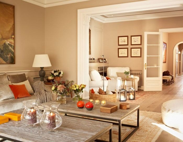 Beige Apartment Interior Design in Barselona  Home Interiors