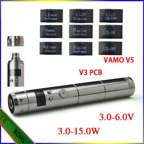 Atomizer resistance display Battery voltage display