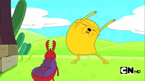 Adventure Time #funny #gifs: Jake shows the dancing bug how it's done!