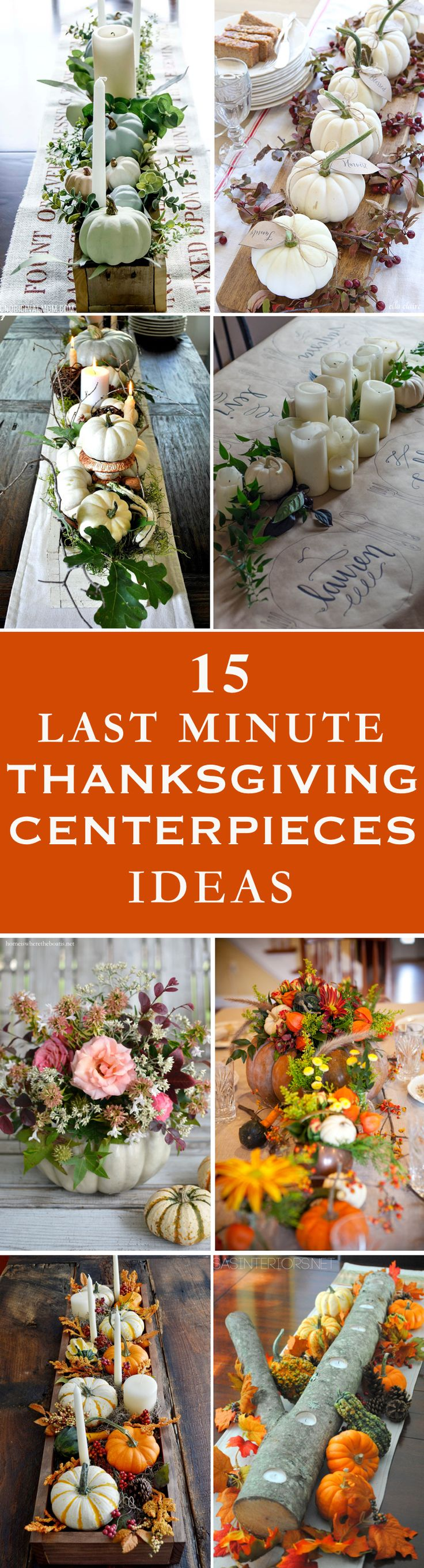 Get inspired by things around you to make these beautiful last minute Thanksgiving centerpieces with these easy ideas.