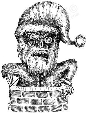 Zombie Santa. Artwork by 'Trick. TricksPlace.com