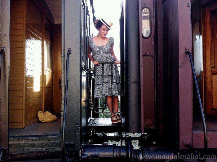 Traveling on a 1950's diesel train. Photo by Ki Ruusuvuori