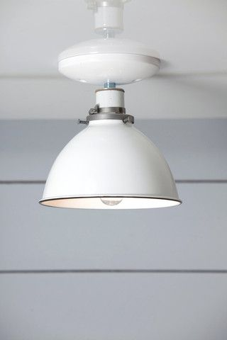 White Metal Shade Light - Semi Flush Mount Lamp | Industrial Light Electric, Industrial Modern Lighting, Vintage Industrial Style Lights with a Modern Design