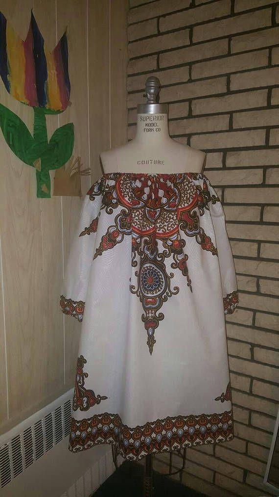 Ropa africana: N Y O T una impresión africana Vestido de
