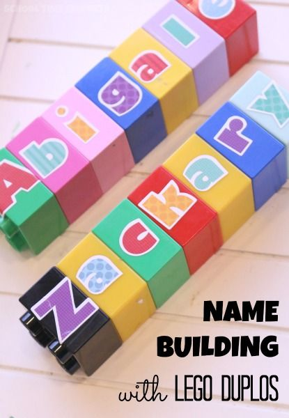 Embellish your stash of LEGO Duplos to bring new life and learning opprotunities using this fantastic toy! Adding letter stickers is a great way to practice so many things, including your child's name!