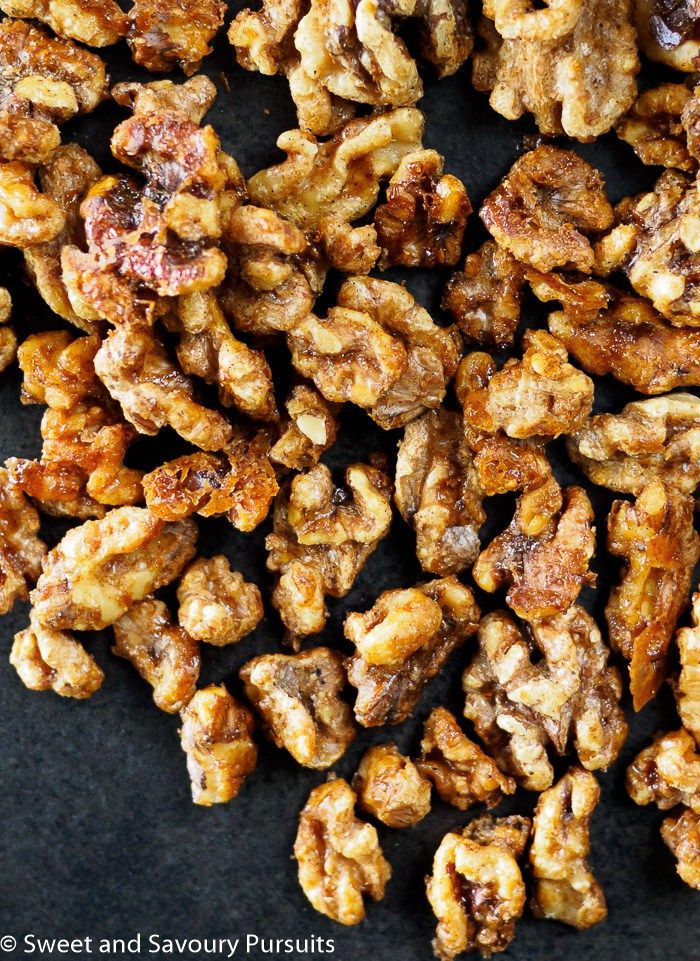 These easy to make, perfectly roasted sweet and savoury Maple Spiced Walnuts are a delicious treat!