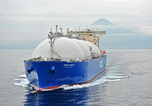 KHI Hands Over LNG Carrier Grace Dahlia