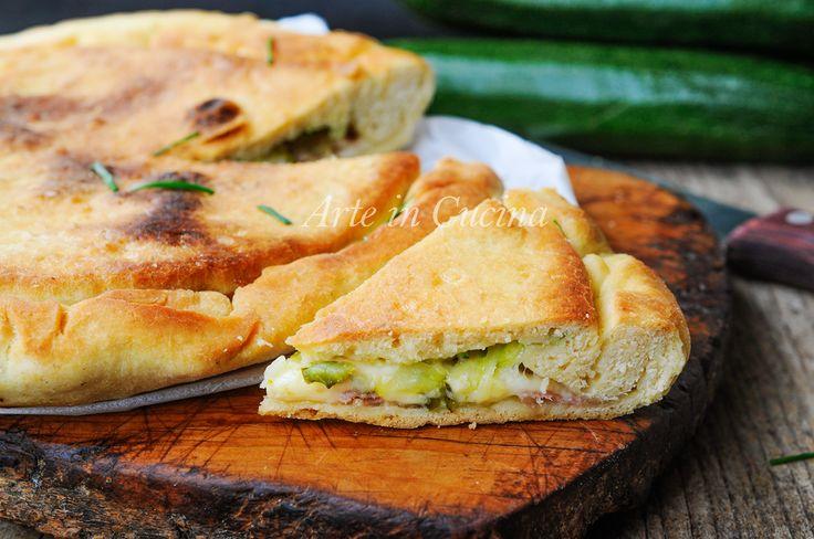Focaccia velocissima zucchine e speck ricetta facile