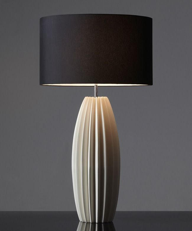Galileo table light natural with black shade