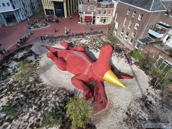 荷兰阿纳姆Partyaardvark景观雕塑第1张图片