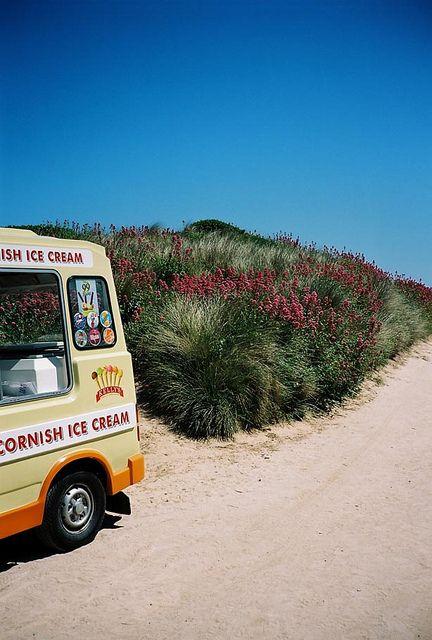 Ice Cream Van. Constantine Bay, Cornwall, England by J.F MPLS, via Flickr
