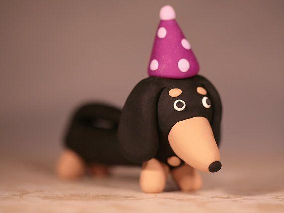 Wiener Dog Cake Topper